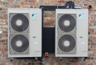 image of outdoor heat pump units