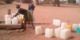 plastic bottles in use in the gambia