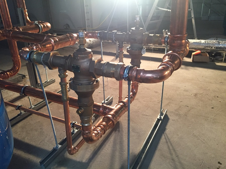 commercial pipework installation