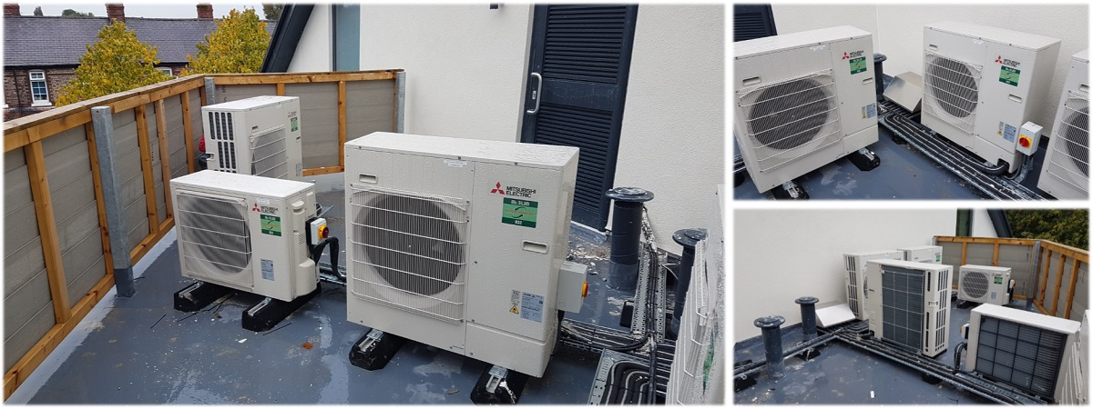 collage of air conditioning unit images