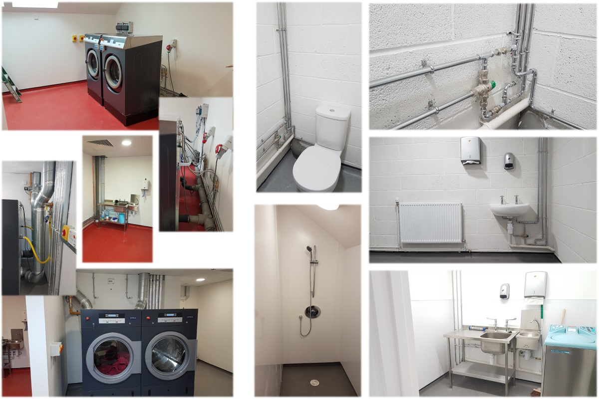 collage of laundry images